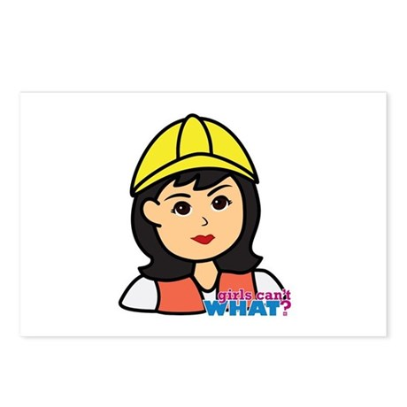 Construction Worker Head Postcards (Package of 8)
