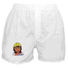 Construction Worker Head - Dark Boxer Shorts