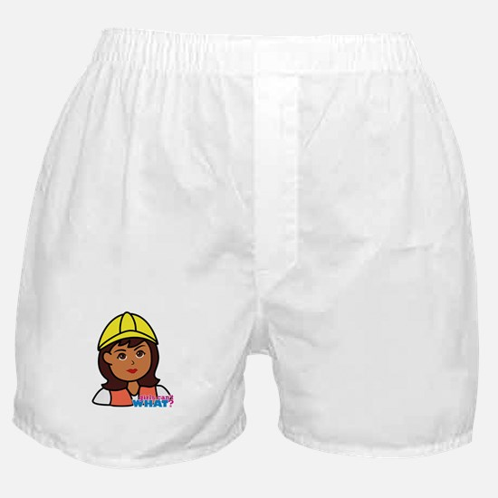 Construction Worker Head - Dark Boxer Shorts