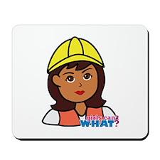 Construction Worker Head - Dark Mousepad