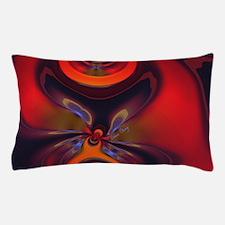 Abstract Fractal Amber Goddess Pillow Case