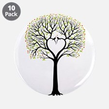 Love tree with heart branches, birds and hearts 3.