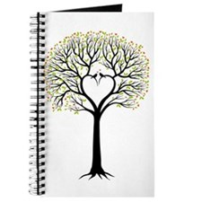 Love tree with heart branches, birds and hearts Jo