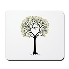 Love tree with heart branches, birds and hearts Mo