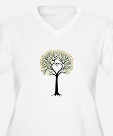 Love tree with heart branches, birds and hearts Pl