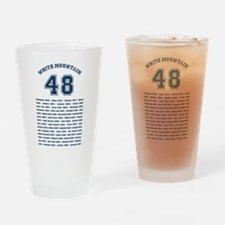 Nh 4000-Footers Beer Drinking Glass