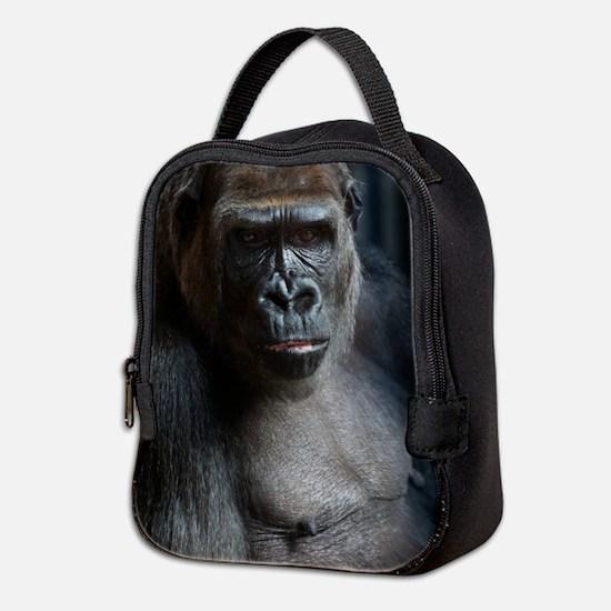 Portrait Of a Gorilla Neoprene Lunch Bag