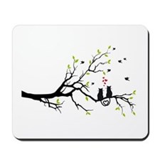 Cats in love on tree Mousepad