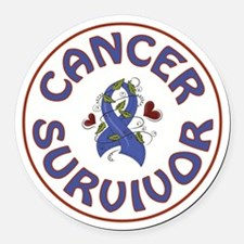 CANCER SURVIVOR Round Car Magnet