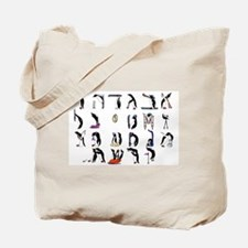 Penguin Aleph Bet Tote Bag