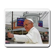 Pope Visits Pat's Mousepad