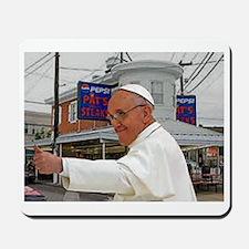 Pope Visits Pat's Mousepad