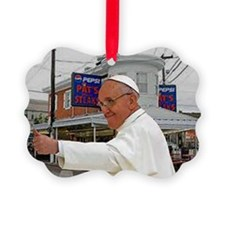 Pope Visits Pat's Ornament