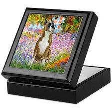 Monet's Garden & Boxer Keepsake Box