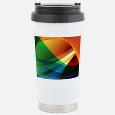 Colorful Abstract Art Stainless Steel Travel Mug