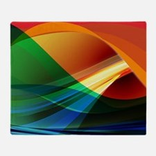 Colorful Abstract Art Throw Blanket