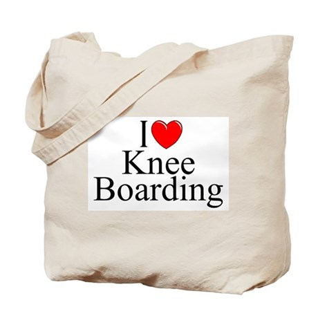 """I Love (Heart) Knee Boarding"" Tote Bag"
