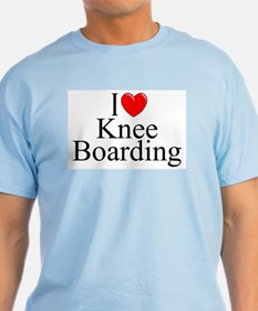 """I Love (Heart) Knee Boarding"" T-Shirt"