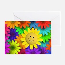 Colorful Art of Flower Greeting Card