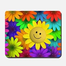 Colorful Art of Flower Mousepad