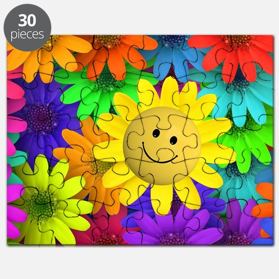 Colorful Art of Flower Puzzle