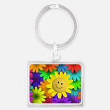 Colorful Art of Flower Landscape Keychain