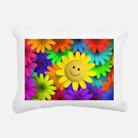 Colorful Art of Flower Rectangular Canvas Pillow
