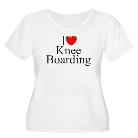 """""""I Love (Heart) Knee Boarding"""" Women's Plus Size S"""