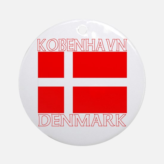 Kobenhavn, Denmark Ornament (Round)