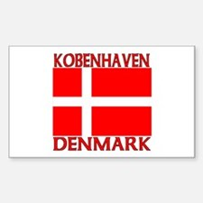 Kobenhavn, Denmark Rectangle Decal