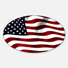 USA America Flag Sticker (Oval)