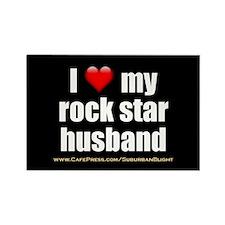 """Love My Rock Star Husband"" Rectangle Magnet"