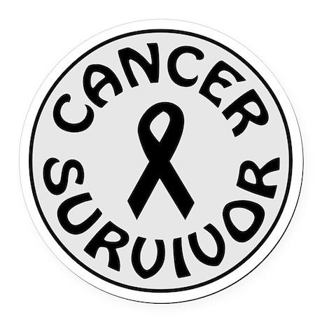 CANCER SURVIVOR Round Car Magnet