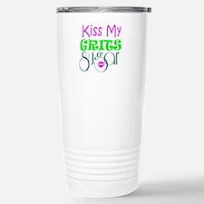 kiss my grits Travel Mug