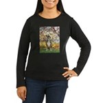 Spring with a Boxer Women's Long Sleeve Dark T-Shi