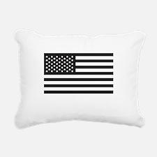 Subdued US Flag Tactical Rectangular Canvas Pillow