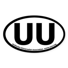 UU Bumper Oval Decal with UUA text Decal
