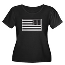 Subdued US Flag Tactical Plus Size T-Shirt