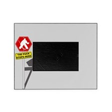 The Puck Stops Here Picture Frame