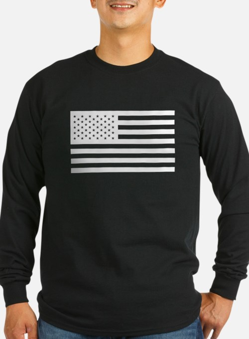 Subdued US Flag Tactical Long Sleeve T-Shirt