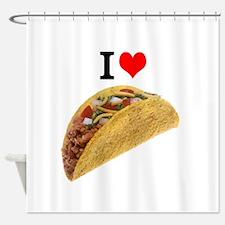 I Love Tacos Shower Curtain