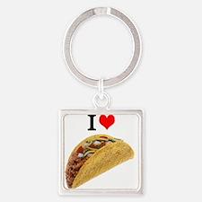 I Love Tacos Keychains