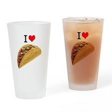 I Love Tacos Drinking Glass