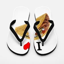 I Love Tacos Flip Flops