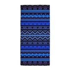 Mix #218, Blue Aztec Beach Towel