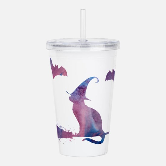 A scary cat! Acrylic Double-wall Tumbler
