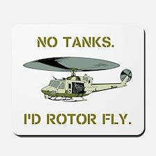 No Tanks. Id Rotor Fly. Mousepad