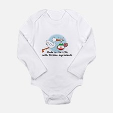 Stork Baby Iran USA Long Sleeve Infant Bodysuit
