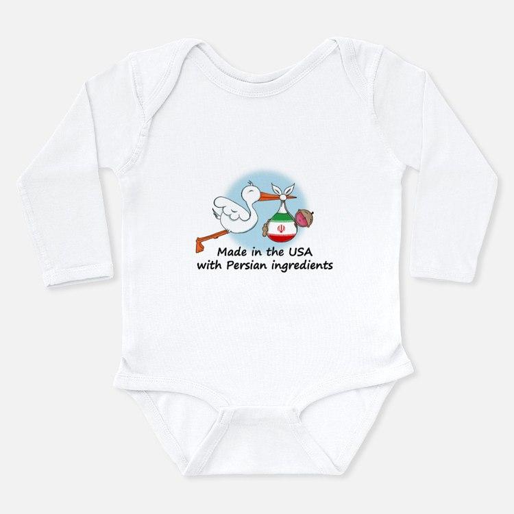 Stork Baby Iran USA Long Sleeve Infant Bodysuit