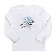 Stork Baby Iran USA Long Sleeve Infant T-Shirt